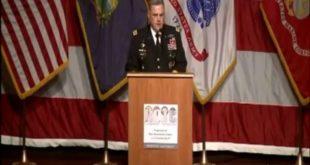 נאומו של הגנרל האמריקאי. (סרטון בסוף הכתבה)
