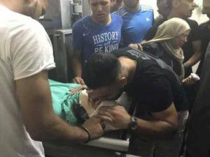 משפחתו של המחבל חיכתה לגופת המחבל בבית חולים