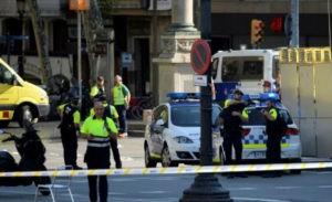 אזור הפיגוע בברצלונה. צילום: EFP