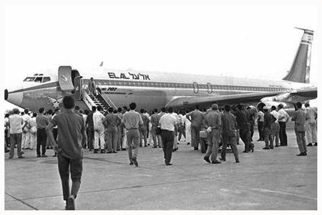 מטוס בואינג לאחר שחרור מ