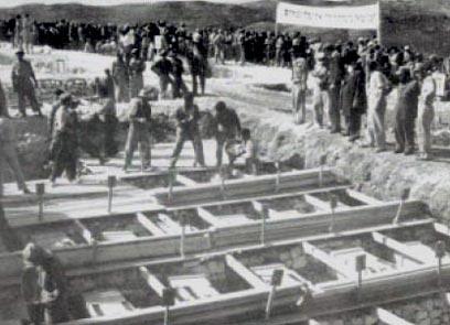 """לוחמי הל""""ה נקברו תחילה בכפר עציון"""