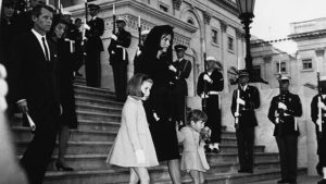 ג'קלין קנדי בהלוויה של בעלה הנשיא