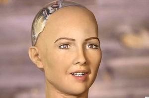 סופיה בעלת בינה אנושית. צילום מסך
