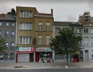 צילום הבניין שקרס לפני הפיצוץ
