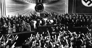 היטלר מכריז על סיפוח אוסטריה ברייכסטאג (1938)