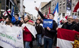 """מצעד תמיכה במפלגת """"ליגה"""". צילום: GettyImages"""