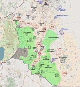 מפה גזרת הגולן הסורית
