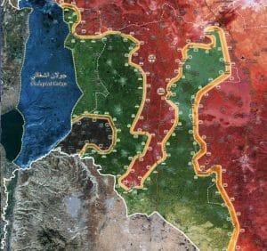 מפת דרום סוריה לפי פריסת כוחות