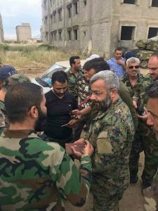 """מפקד כוחות דיויזיה 4 באזור קונייטרה ומפקד המתקפה -אל""""מ אלריאת' – מח""""ט 42:"""