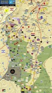 """מיקום 2 החטיבות במפת הסד""""כ בגולן הסורי:"""