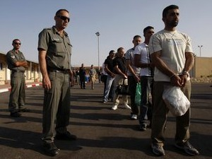 אסירים פלסטינים משתחררים