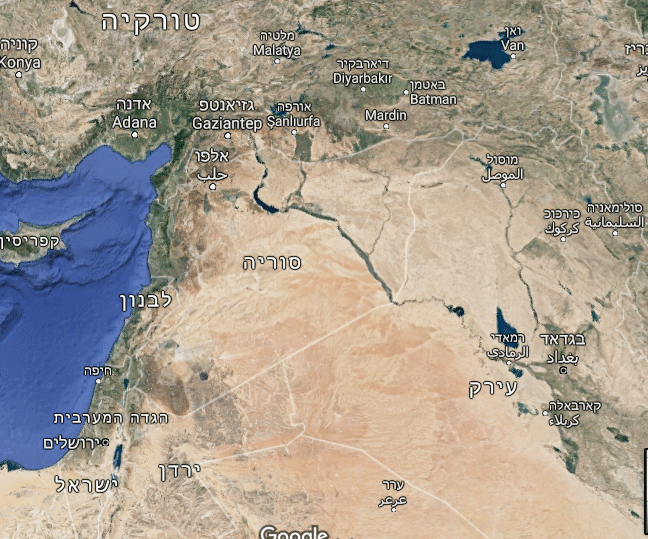 מפת האזור (גוגל מפות)