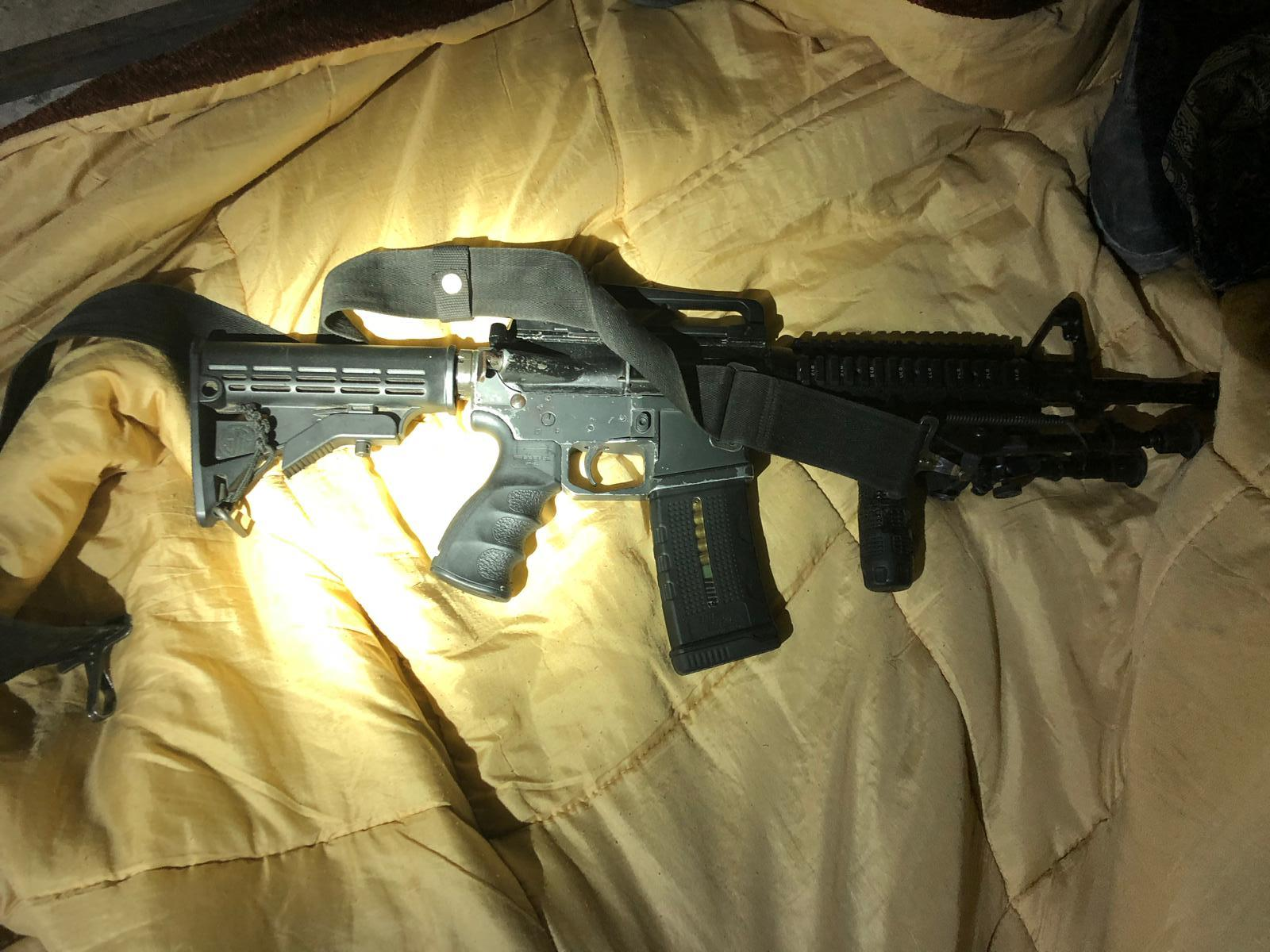 הנשק שנתפס. צילום: דוברות המשטרה