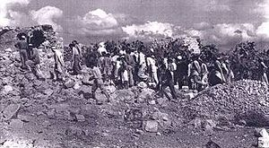 ההריסות בקיביה לאחר הפעולה ויקיפדיה