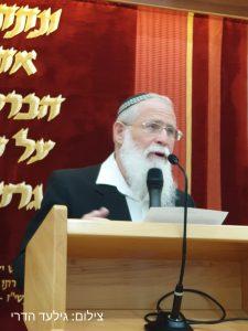 הרב יעקב אלייקים ערך שיעור לזכרו. צילום: גילעד הדרי