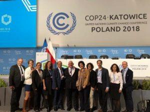 משלחת המשרד להגנת הסביבה לוועידה בקטוביץ'. צילום: המשרד להגנת הסביבה