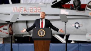 דונאלד טראמפ מכריז על חיל חלל