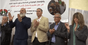 שני משמאל, מחמוד ג'אברין ששוחרר לאחר 30 שנה בכלא צילום מתקשורת ערבית