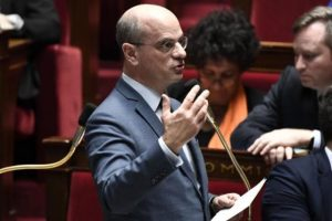 שר החינוך והנוער הצרפתי, ז'אן מישל בלנקר. צילום: AFP