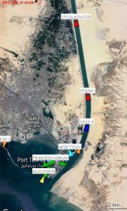 המכלית סיימה את חציית תעלת סואץ ב-16 לאפריל ונכנסה לים התיכון