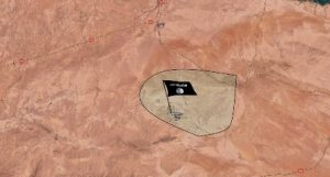 """מפת האזור הכבוש של דאע""""ש"""