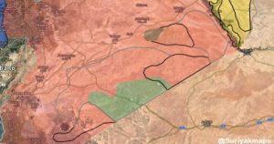 שיירה צבאית גדולה של צבא סוריה נעלמה באזור המדבר הסורי