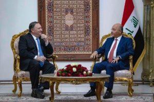 פומפאו עם ראש ממשלת עיראק