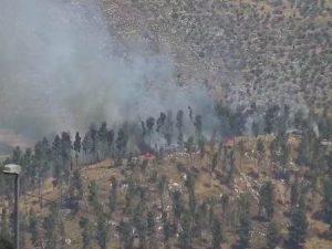 שריפה ליד בסיס חטיבת שומרון. צילום: מועצה אזורית שומרון