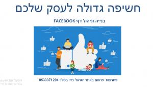 בניה וניהול דפי פייסבוק עסקיים