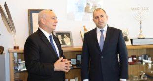 נשיא בולגריה רומן ראדב וחמי פרס צילום | אלון גרף