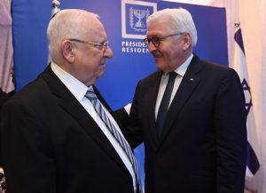 """נשיא המדינה ונשיא גרמניה. צילום   מארק ניימן/לע""""מ"""