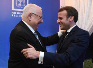 """נשיר המדינה ונשיא צרפת. צילום   מארק ניימן/לע""""מ"""