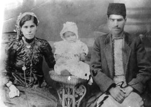 בכורה ומאיר בנאיעם בנם הבכור שמואל ירושלים, 1915 ארכיון התמונות יד יצחק בן צבי