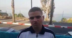 דוד עבדן הנער שהוקף. צילום | צבי סרוסי ישראל ניוז